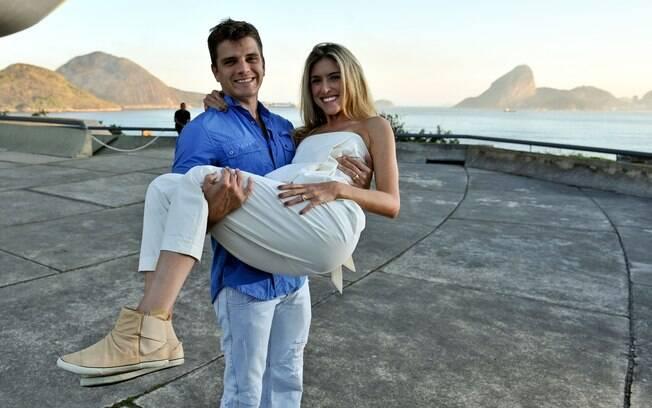 Leticia e Marcelo: pedido de casamento feito no Taiti