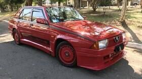 Aceleramos o único Alfa Romeo 75 Turbo no Brasil