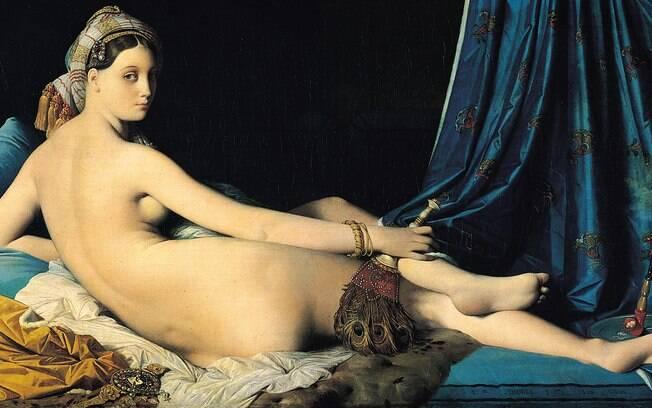''A Grande Odalisca'', importante pintura de nu de Jean Auguste Domique Ingres que explora sexualidade e erostimo