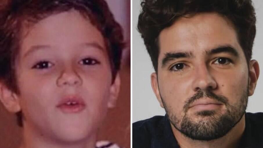 À esquerda, Eduardo Albuquerque como Alvinho, de