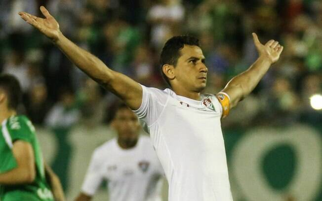 Ganso fez o gol de empate do Fluminense contra a Chapecoense