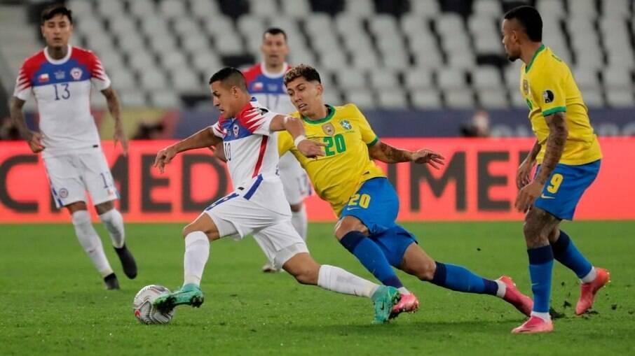 Brasil e Chile se enfrentaram pela última vez na Copa América