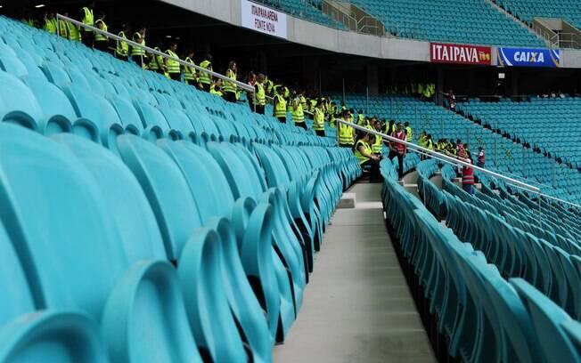 Todos torcedores da Fonte Nova terão lugar marcado para assistir ao jogo