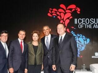 A presidente Dilma Rousseff se encontrou com o presidente dos EUA, Barack Obama, durante Cúpula das Américas no Panamá