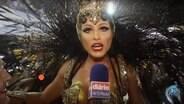Lívia Andrade se emociona ao falar sobre desfile em SP