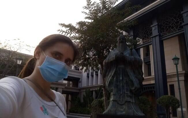 Maria Luiza teve poucas aulas presenciais na universidade em Macau, na China