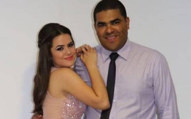 Maisa e o pai Celso Andrade
