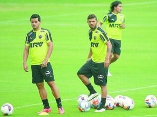 Repetição.  Cesinha e Carlos foram mantidos no setor ofensivo do Galo para o jogo de hoje, contra a Caldense, em Poços de Caldas