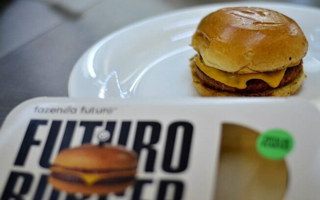 Hambúrguer do futuro pronto
