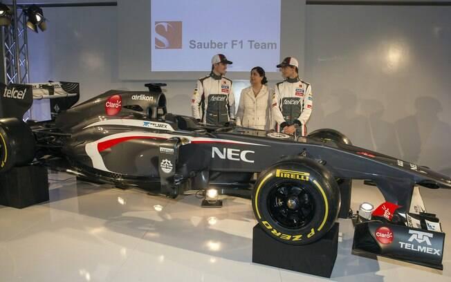 A Sauber trocou o branco pelo cinza