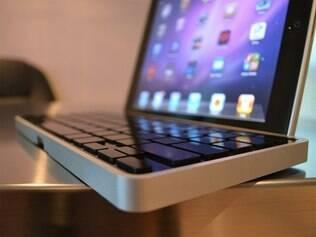 Teclado oferece suporte para iPad