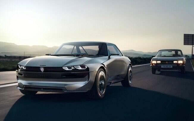 Peugeot e-Legend mistura o passado e o futuro, que deverá cativar o público do Salão de Paris