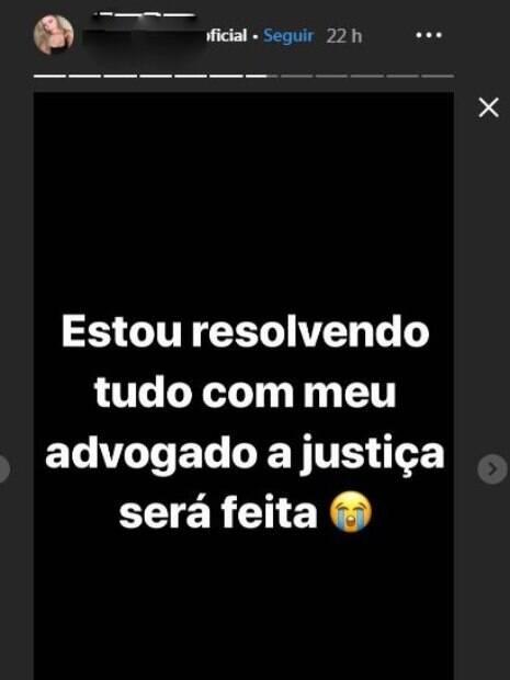 Mensagem do Instagram de perfil fake da moça que teria sido estuprada por Neymar