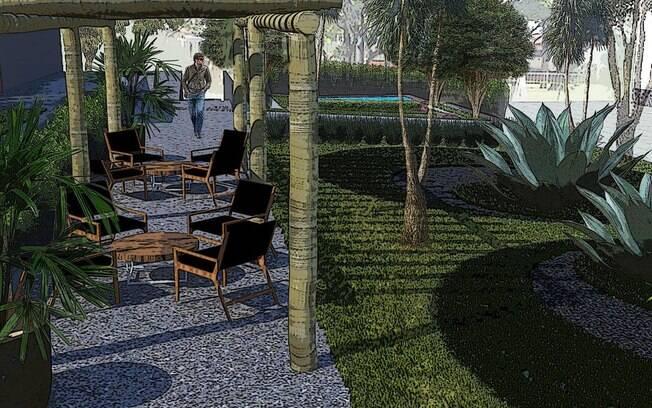 O projeto de Marcelo Faisal na Casa Cor SP é repleto de tons de verde e espécies volumosas