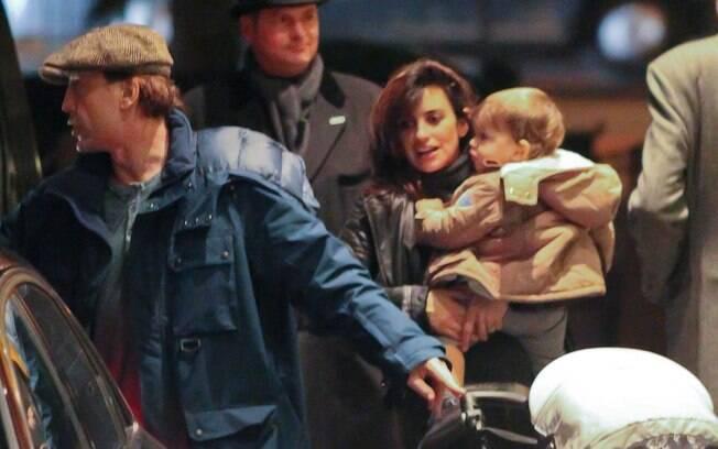 Penélope Cruz e Javier Bardem com o filho Leo