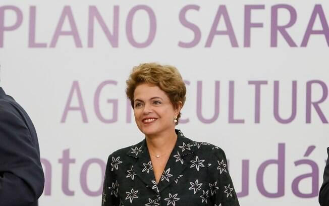 Dilma durante cerimônia de Lançamento do Plano Safra da Agricultura Familiar no Palácio do Planalto