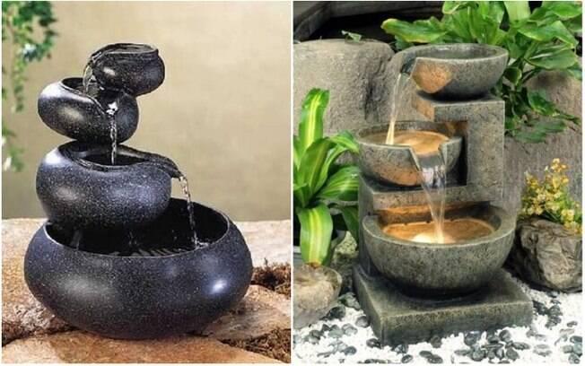 Pequenas fontes elétricas também contribuem para a tranquilidade do espaço, já que o barulho da água corrente relaxa