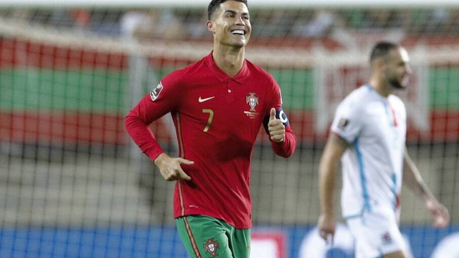 Cristiano Ronaldo marcou três contra Luxemburgo