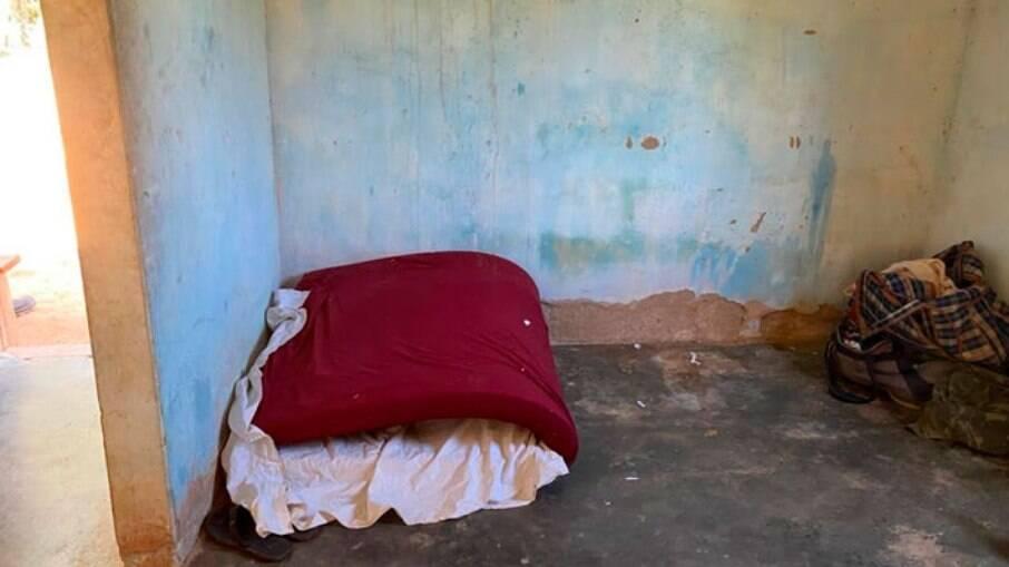 O espaço onde os 12 trabalhadores dormiam