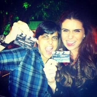 Thammy e Giovanna na festa de final de ano da TV Globo