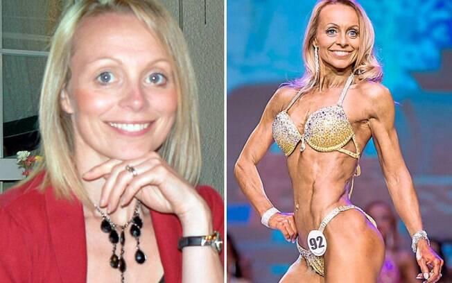 Suzanne Shorock virou fisiculturista para para participar de uma competição e acabou conseguindo o segundo lugar