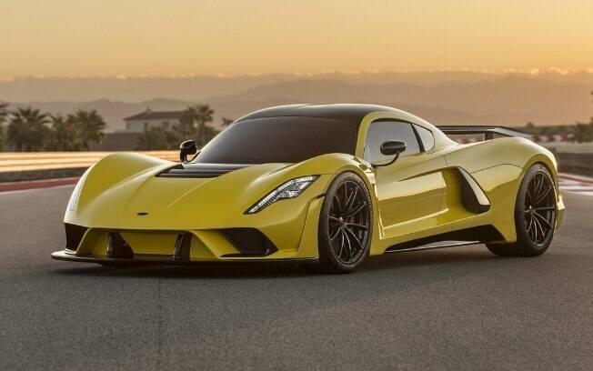 Hennessey Venom F5: Em sua velocidade final, é capaz de percorrer pouco mais de um campo de futebol por segundo