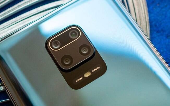 Redmi Note 9 Pro tem quatro câmeras traseiras