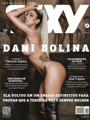 Dani Bolina é, pela terceira vez, capa da revista Sexy