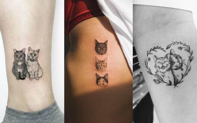 Você pode escolher as fotos que mais gosta do seu animal de estimação para levar ao profissional que vai fazer a tattoo