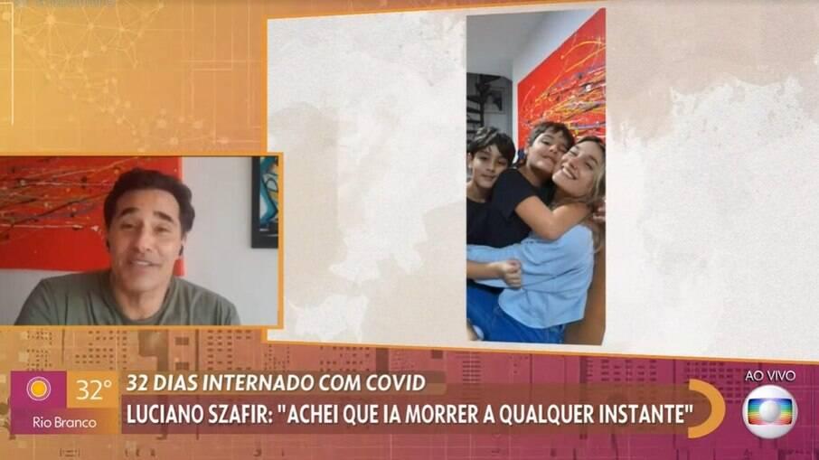 Luciano Szafir aborda internação e reencontro com os filhos