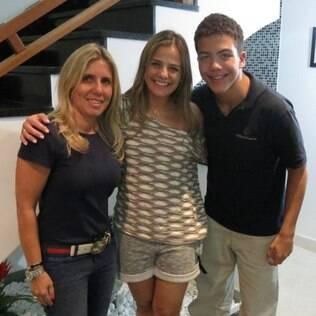 Ronald e Milene com a empresária Paola de Nigris