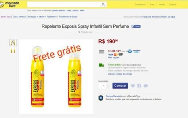 Um frasco de Exposis infantil chega a ser vendido a R$ 190 pela web
