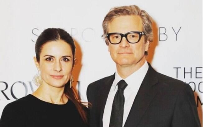 Lívia Firth e Colin Firth numa premiação no último final de semana, antes de toda a polêmica com o perseguidor, traição e polícia vir à tona para o público e a imprensa