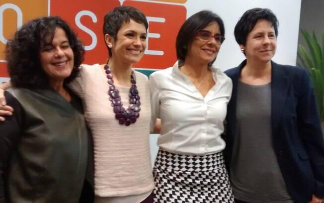 Lúcia Araújo, Diretora do Futura, Sandra Annemberg, Beatriz Azeredo, Diretora de Responsabilidade Social e Cristina Piasentini, Diretora de Jornalismo da Globo São Paulo