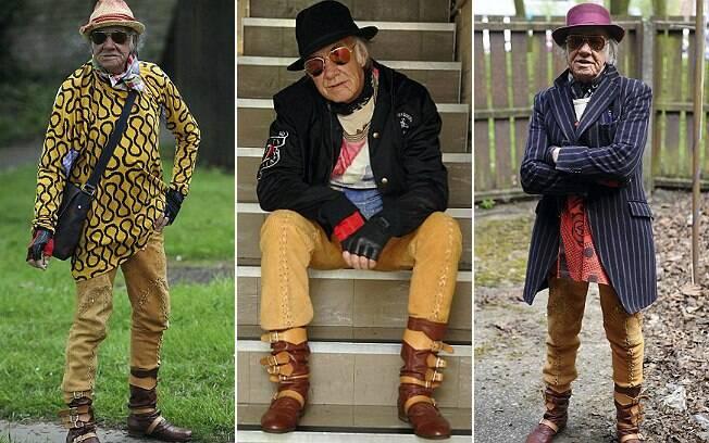 Allan Bradbury tem dois guarda-roupas cheios de peças de estilistas em sua casa