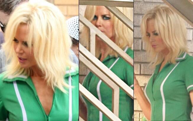 Nicole Kidman nas filmagens de