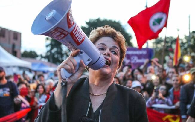 No lançamento da candidatura do ex-presidente, Dilma Rousseff leu o
