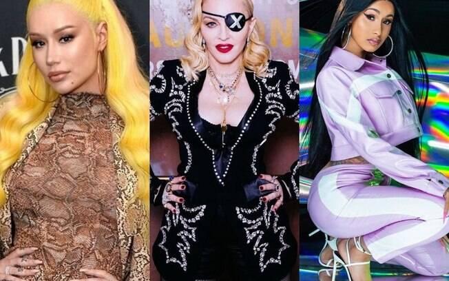 Madonna, Iggy Azalea e Cardi B. surpreendem fãs com seus mais recentes trabalhos