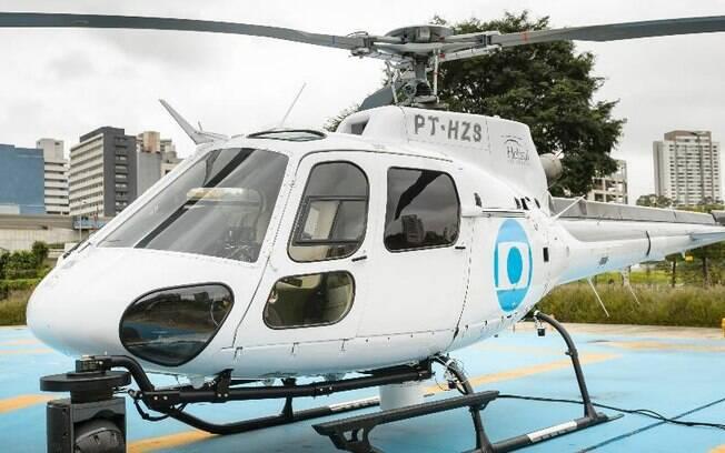 Globo mando o helicóptero ir buscar os funcionários para evitar atraso
