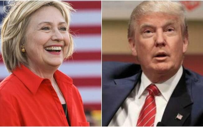 Favoritos nas pesquisas, Hillary Clinton e Donald Trump testam força de suas candidaturas nos EUA
