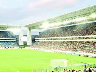 Arena Pantanal recebeu um jogo entre Santos e Atlético, pelo Brasileirão