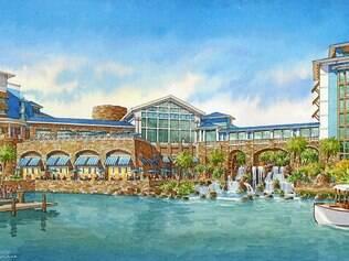 Projeto do Loews Sapphire Falls Resort, de estilo caribenho, a ser inaugurado em 2016
