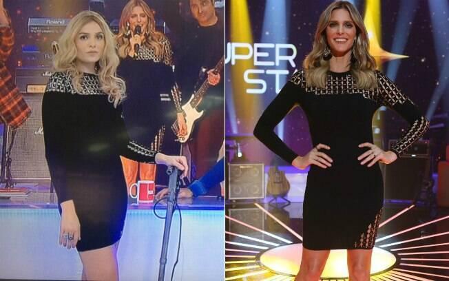 Monica Iozzi usa vestido que Fernanda Lima apresentou estreia do 'Superstar'