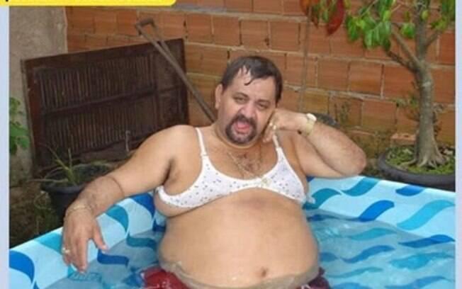 piscina de plastico na sala