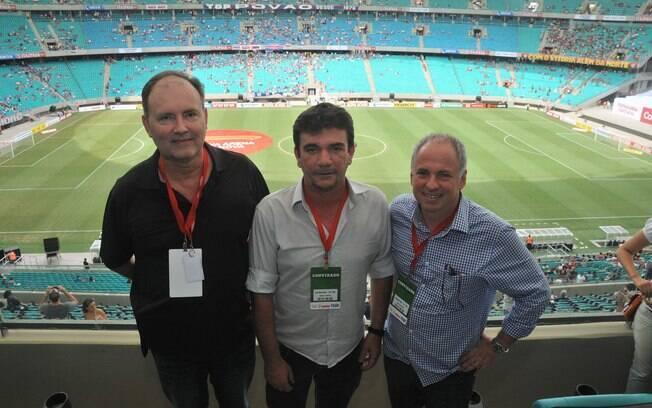Ex-presidente do Corinthians, Andrés Sanchez, foi um dos convidados na reabertura da FOnte Nova