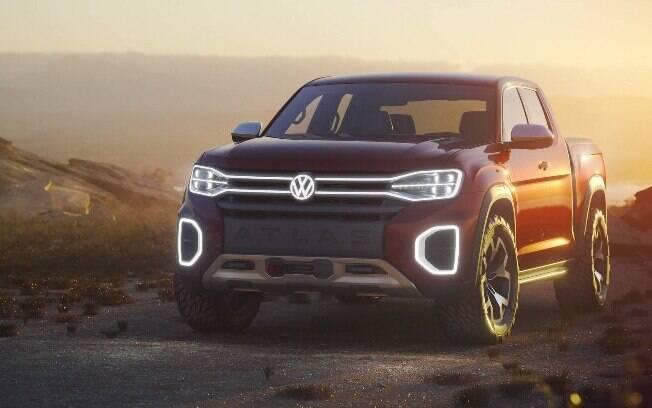 Tal como outros conceituais, a nova picape da VW tem estilo futurista, mas sem abandonar a robustez do visual