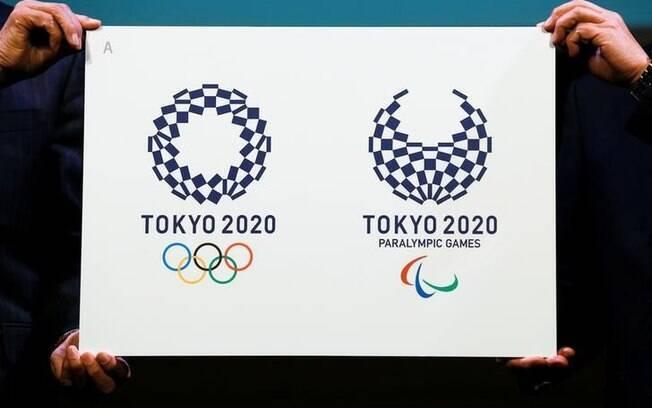 Logotipos das Olimpíadas de Tóquio, em 2020