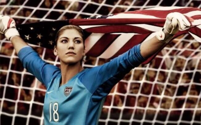 Hope Solo é goleira da seleção norte-americana de futebol