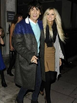 Ron Wood e Nicola Sargent