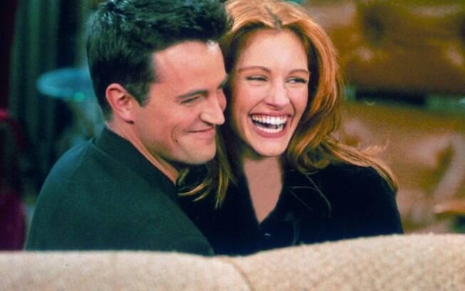 O relacionamento de Julia Roberts e Matthew Perry, que durou apenas alguns meses, teve início quando a atriz fez uma participação em 'Friends', em 1995, na qual ele interpretava Chandler